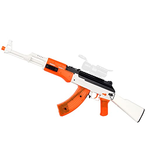 Anstoy AKM-47 Gel Ball Blaster MilSim Suitable for Adults Over 18 Years Old (Orange)