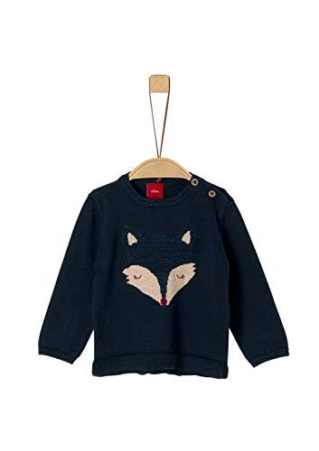 s.Oliver Baby-Mädchen 65.909.61.2304 Pullover, Blau (Dark Blue 5952), (Herstellergröße: 86)