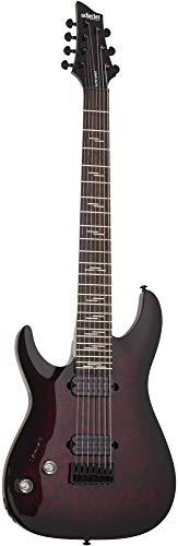 Schecter 2461 Omen Elite 7 Left Handed Guitar, Rosewood Fretboard, Black Cherry Burst