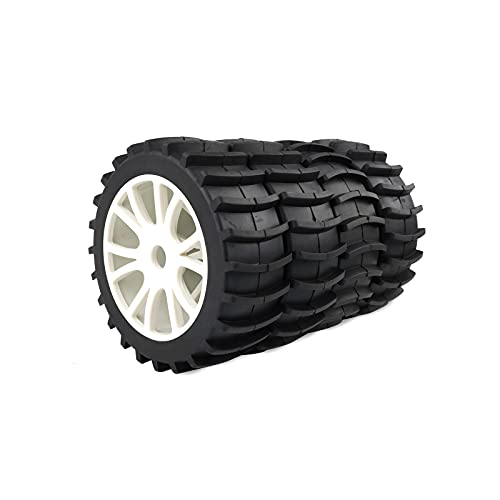 Rowiz White 1/8 Scale RC Off Road Buggy Snow Sand Paddle Tires Tyre Wheel for HSP HPI Baja Redcat...