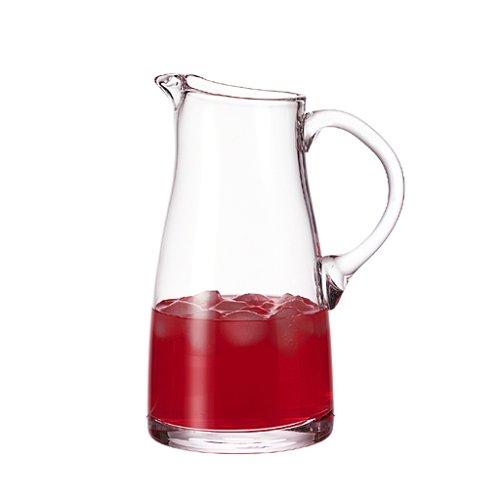 Leonardo Liquid Krug, handgefertigter Glas-Krug, Wasser-Karaffe mit Henkel im klassischen Design, 1850 ml, 065330