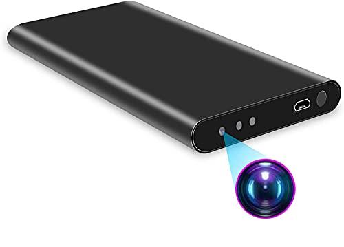 隠しカメラ 小型カメラ モバイルバッテリー 5000mAh 長時間録画小型カメラ 1080P画質 スパイカメラ 24時間超長録画 自動暗視録画 128GBカード対応