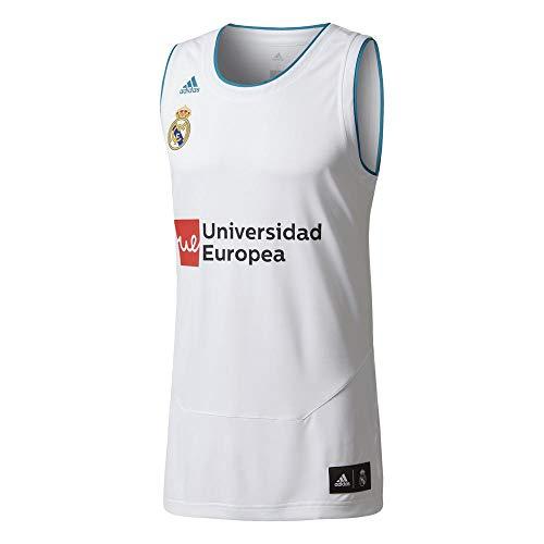 adidas RM Replica Camiseta Línea Real Madrid FC, Hombre, Blanco, 5XL4