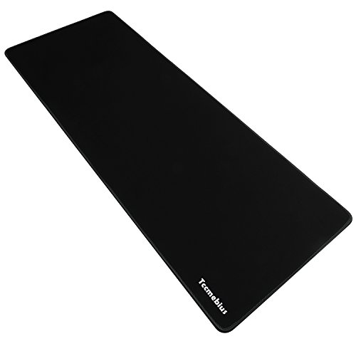 Tccmebius Extended Large Gaming Mouse Pad, Computer Keyboard Mousepad Mouse Mat, Water-Resistant, Non-Slip Rubber Base Cloth, Ideal for Gaming, Thick X-Large 30.71x11.81×0.12 inch (Black, X-Large)