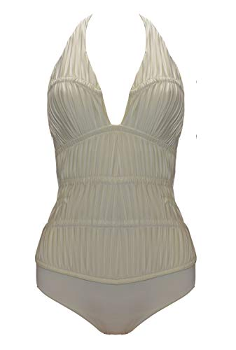 La Perla Ivory Ruched Underwire One Piece Swimsuit (10)