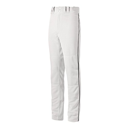 Mizuno Youth Select Pro Piped G2 Pants, White/Black, Large