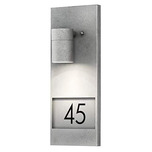 Konstsmide Modena 7655-320 huisnummerlamp/B: 16 cm D: 11 cm H: 41 cm / 1x35 W / IP44 / gegalvaniseerd/verzinkt