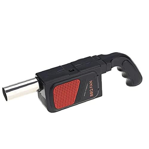 Tragbare BBQ Blower Hand Elektro BBQ-Ventilator-Luft-Gebläse Kleines Grillkochwerkzeug für Outdoor-Camping-Picknick-Grill, Elektrogrill Blower
