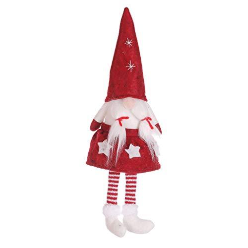 Sayla Weihnachten Deko Plüsch Handgemachte Schwedische Wichtel Santa Dolls Süße Weihnachten Puppen Figur aus Weihnachtsfigur Dwarf Schöneren Weihnachts Deko Urlaub Spielzeug Geschenk