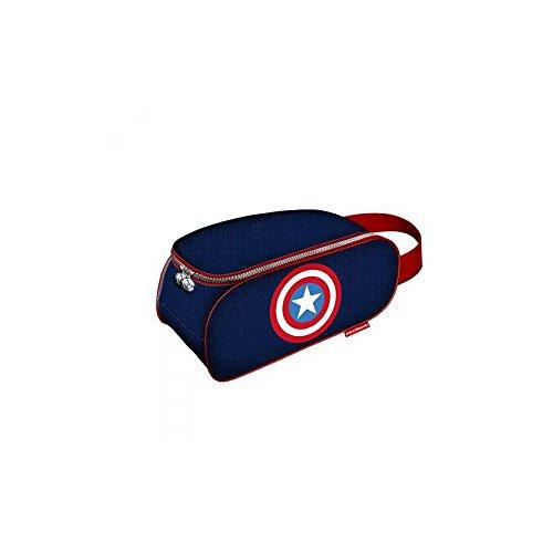 Karactermania Los Vengadores Shield Bolsa para Zapatos, 34 cm, Azul