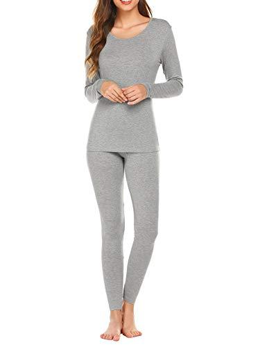 Ekouaer Thermal Underwear Women Ultra-Soft Long Johns Set Base Layer
