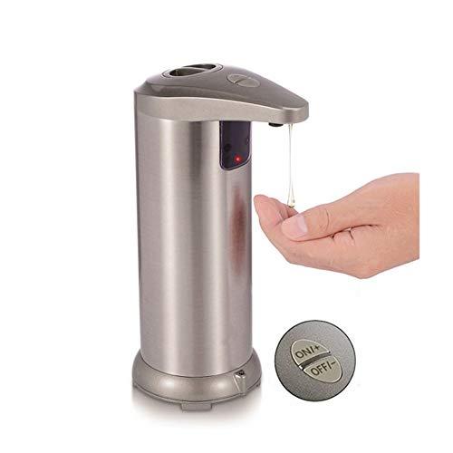 LGOO1 Automatique Distributeur de savon en acier inoxydable, Capteur de mouvement infrarouge, distributeur de savon à la main avec la base étanche, réglable Switch, Convient for salle de bains, Cuisin