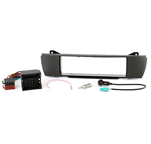 Watermark Radio-Set di installazione per BMW Z4 E85 E86 (Radioblende + Cavo Adattatore + Antenna Splitter) Nero