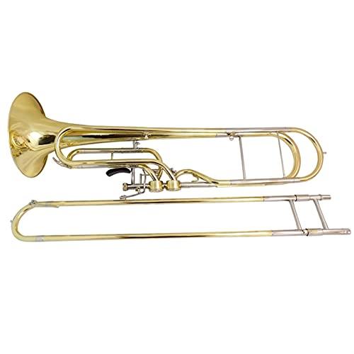 F Trombone del Contrabbasso della Chiave f con Cassa e bocchino Tromboni in Ottone Giallo Strumenti Musicali Placcato Argento Strumento a Tromba (Color : Lacquer)