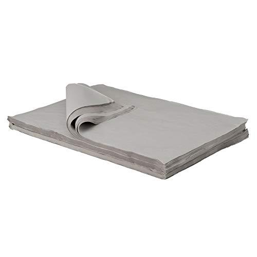 BB-Verpackungen Packseide, 5 kg, 50 x 75cm grau, Seidenpapier Polsterpapier Geschirrpapier Packpapier