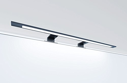 LED Badleuchte schwarz 740mm Spiegellampe Spiegelleuchte Aufbauleuchte, Lichtfarbe:warmweiß