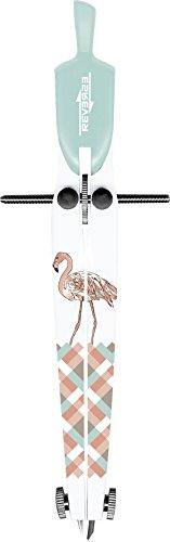 Brunnen 1049663351 Zirkel / Schnellverstellzirkel, für Kreise bis Ø 380 mm, mit Motiv Flamingo)