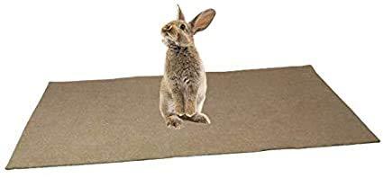 Alfombra para roedor, 100 % cáñamo (800 g/m2) – 1 m x 0,40M – arena de suelo para roedores – Cubre el fondo de la jaula – Gran absorción de humedad y olores – Lote de 3