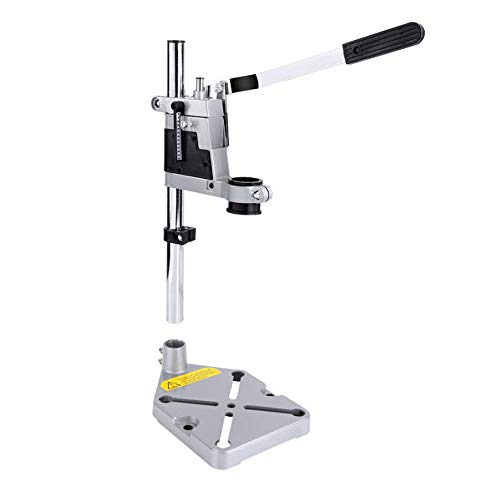 Drill Stand Drill Stand, Electric Drilling Machine Stand, Column Clamp with Depth Gauge Table, for Drilling Aluminum Base (Single Hole)
