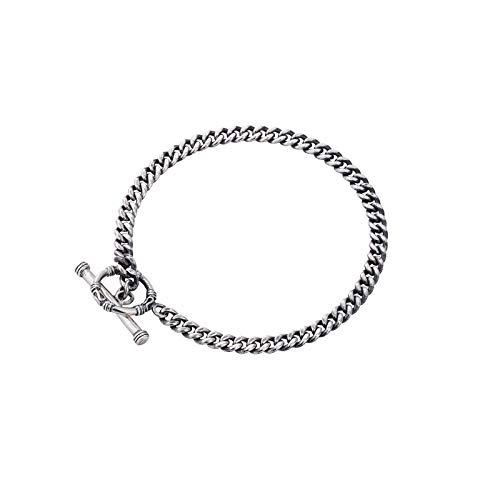 Damesarmband voor dames, 925 sterling zilver, met verstelbare vintage, met live mond, cirkelvormige weefsel, voor meisjes en moeder, geschikt als cadeau