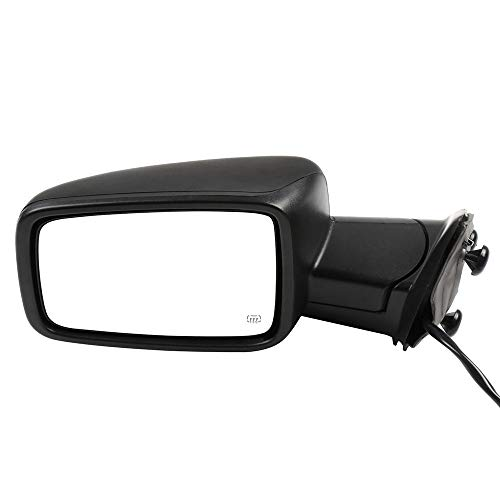 ECCPP Driver Side Mirrors, Left Rear View Mirrors fit 2011-2013 Dodge Ram 1500 3500 2011-2015 Ram 2500 2009-2010 Dodge Ram 1500 with Power Heated Turn Signal Light Manual Fold Black