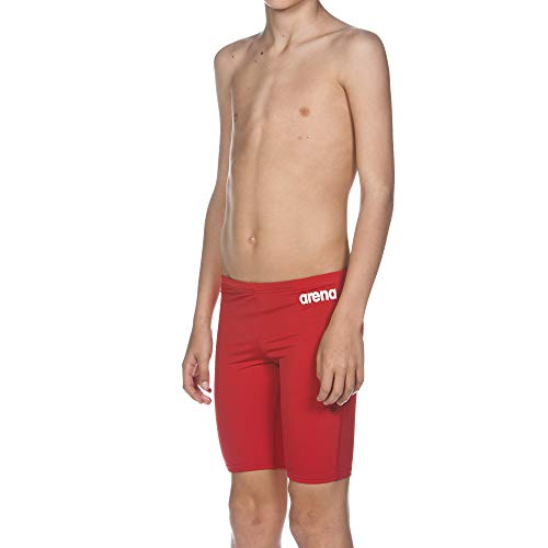 Arena Boy 's Solid Jammer, Rot (red/white), Gr. 140 (10/11 Jahre)
