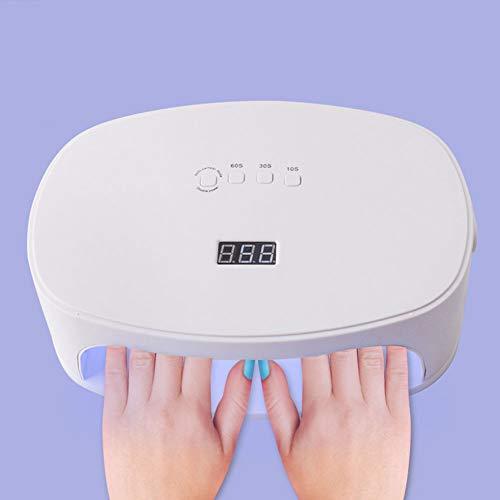 LLUVIAXHAN 80W Lámpara Secadora De Uñas LED UV,con 4 Temporizadores Pantalla LCD, Sensor Automático De Infrarrojos Lampara Uñas,para Manicura Pedicura Nail