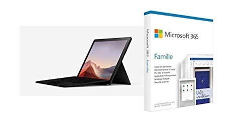 "Microsoft Surface Pro 7 (Windows 10, écran Tactile 12.3"", Intel Core i7, 16Go RAM, 51 + Microsoft 365 Famille   Box"