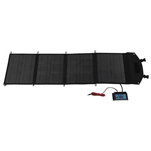 AMONIDA Paneles solares Plegables, Paneles solares Ligeros duraderos Impermeables de 60 W Que se cargan, computadoras portátiles para Cargar teléfonos móviles
