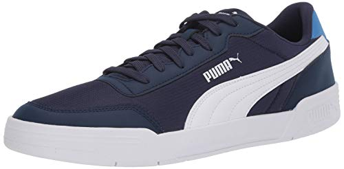 PUMA Caracal Sneaker, Peacoat White-Palace Blue, 5 US