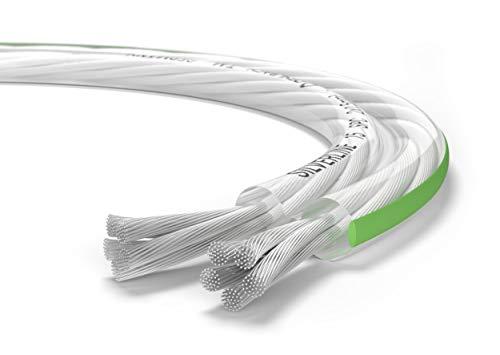 Oehlbach Silverline SP-15 - Stereo HI-FI Lautsprecherkabel - Boxenkabel mit SPOFC (versilbertes Kupfer) 2x1,5mm² - Mini Spule Lautsprecher Kabel - 10m