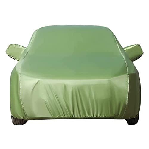 Autoplanen Autoabdeckung Kompatibel Mit Nissan X-Trail Vollgarage Abdeckung Hagelschutzplane Garagen Mit Reflektierenden Streifen Reißvers Wasserdicht Schneeschutz Sonnenschutz (Color : Green)