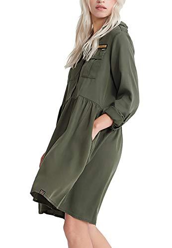 Superdry - Vestido militar para mujer, color caqui
