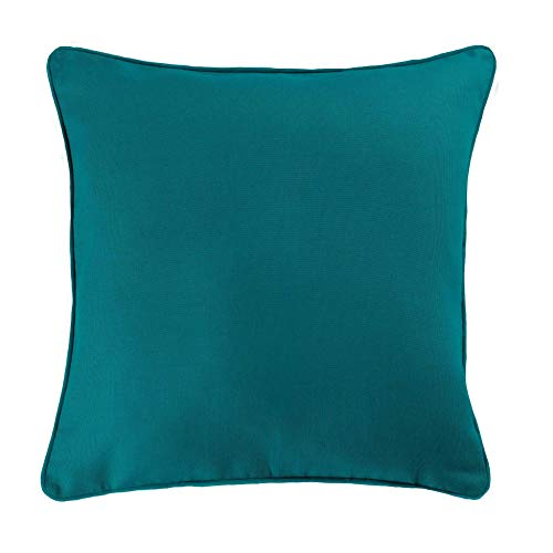 douceur d'intérieur 1605739 Panama Housse de Coussin Coton Bleu 40 x 40 cm