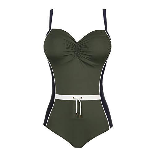 Prima Donna, Damen Badeanzug ungefüttert mit Bügel, Ocean Drive 4002030 (100C, Dark Olive)