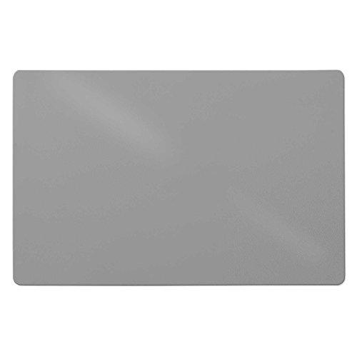 OfficeMarshal Set de Escritorio | Kit Ideal - Escuela y Oficina | 100% Polipropileno | Alfombras para Silla (120x150cm) + Alfombrilla de Escritorio (65X50cm) - Gris