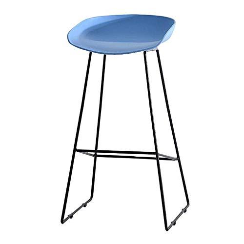 JIEER-C vrijetijdsstoel barkruk metalen frame ontbijtstoel hoge stoel PP zitting eettafel industriële stijl robuust 65cm random color