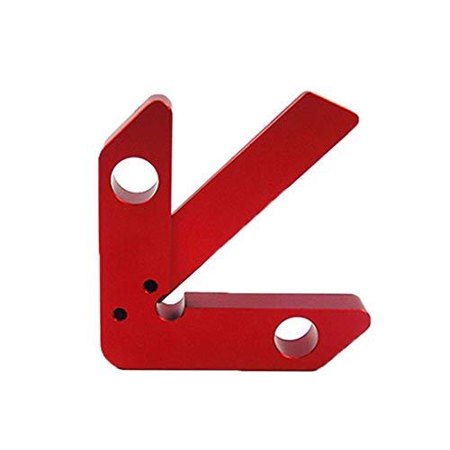 Tensay Couteau de centrage Haute précision 45/90 degrés à Angle Droit, règle en Alliage d'aluminium Durable, Outil de Travail du Bois