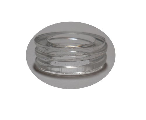 CJH Glue Down Acrylic Collar Rings- for dispensers with no Threads (Pack of 6)