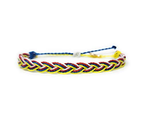 Philippines Patriotic Bracelets | Adjustable | Waterproof Wax Coated | Gold Plated Charm | Adjustable Band | Braided Style