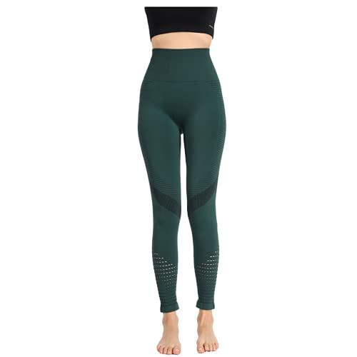 QTJY El Ocio de Las señoras estira los Pantalones de la Yoga del Push-up Fitness Running Gym Medias Deportivas sin Costura Pantalones de Yoga de Cintura Alta BS