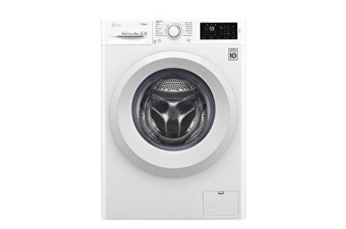 LG F4J5VY3W machine à laver Autonome Charge avant Blanc 9 kg 1400 tr/min A+++ - Machines à laver (Autonome, Charge avant, Blanc, Boutons, Rotatif, Tactil, 150°, Blanc)