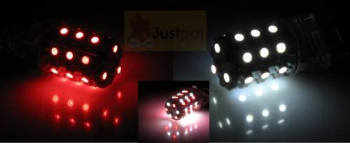 One Pair 3157 Red discount Be super welcome White 48 SMD 2 Dual Color bulbs LED Light