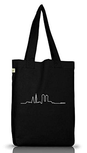 Shirtstreet24, Skyline Munich, München Wiesn Jutebeutel Stoff Tasche Earth Positive (ONE SIZE), Größe: onesize,Black