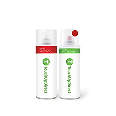 TouchUpDirect E4/M6470/F1/M6886/6D/6470 Vermillion Red Compatible with Ford Exact Match Touch Up Paint Aerosol - Essential Package