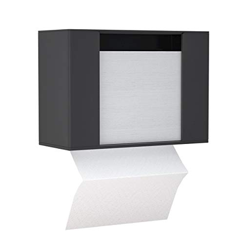 HIIMIEI Black Acrylic Paper Towel Dispenser Wall Mount or Countertop for Multi-Fold Paper TowelC-Fold Zfold Tri fold Hand Towel Holder Commercial 4 Inch Width x 97 Inch Length x 65 Inch Height
