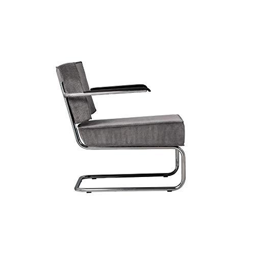 Zuiver Design Sessel Ridge Lounge Rib mit Armlehne hellgrau