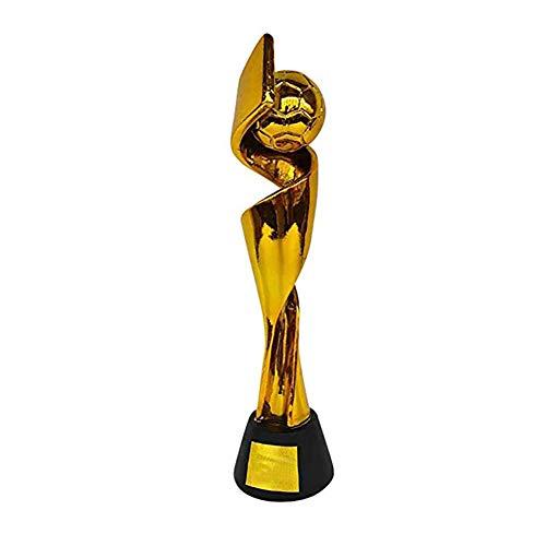 Trofeo de Oro del Campeonato de Deportes de la Copa Mundial Femenina, Trofeo de Campeonato de Fútbol, Trofeo de Campeonato, Suministros para Fanáticos del Club 38 cm