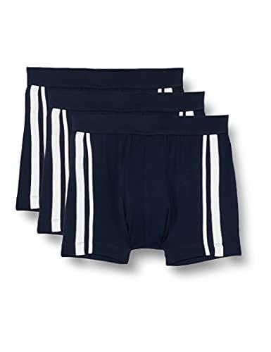 Schiesser Herren Shorts 3er Pack Organic Cotton Softbund und Streifen - 95/5 Stretch, dunkelblau, XL