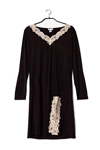 Gattina Nachthemd, Langarm Größe 36, Farbe Black/Toffee